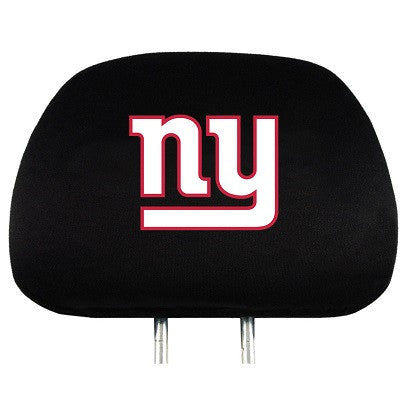 The New York Giant Car Head Rest Cover shows your Giants pride while driving