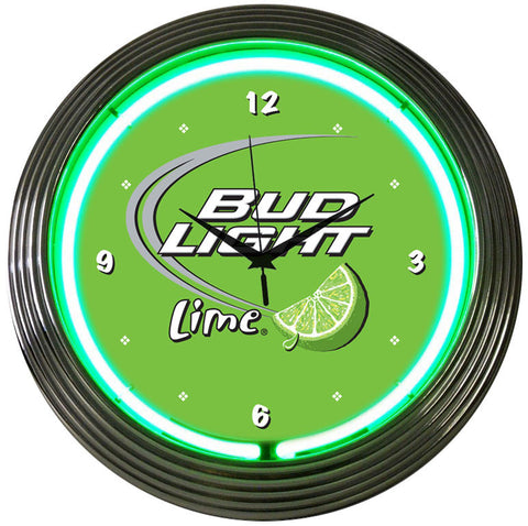 Neonetics Bud Light Lime Neon Clock - 8BUDLM
