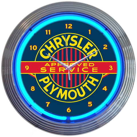 Neonetics Chrysler Plymouth Neon Clock - 8CRYPL
