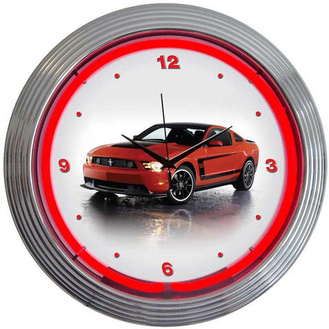 Neonetics Ford Mustang Boss 302 Neon Clock - 8FBOSS