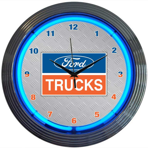 Neonetics Ford Trucks Neon Clock - 8FTRUC