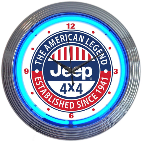 Neonetics Jeep The American Legend Neon Clock - 8JEEPX