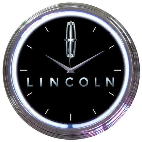 Neonetics Ford Lincoln Neon Clock - 8LNCLN
