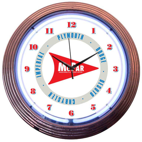 Neonetics Mopar Arrow Neon Clock - 8MPARW