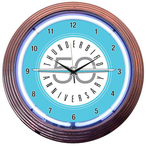 Neonetics Ford Thunderbird Neon Clock - 8THUND