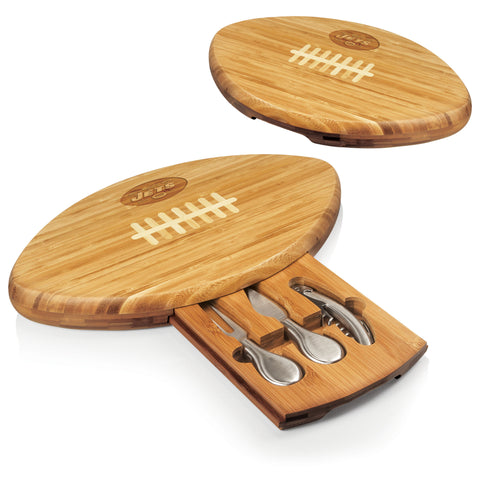 The new york jets Quarterback Cutting Board and Cheese Tool Set - Picnic Time 907-00-505-223-2