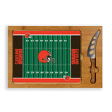 Cleveland Icon cutting board for tailgating with cheese Browns games