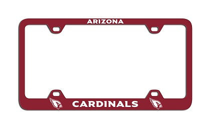 The Arizona Cardinal License Plate Frame in Cardinals NFL car accessories