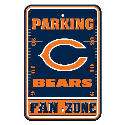 The Chicago Bear Fan Zone Parking Only Sign in Bears NFL Car accessories