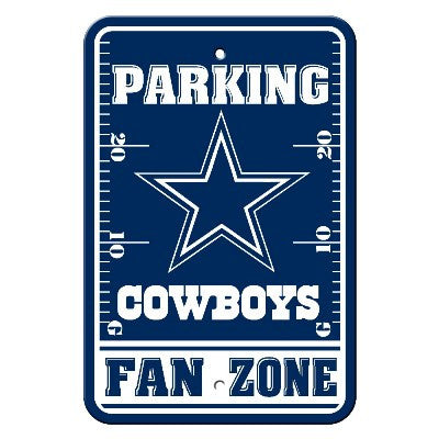 The Dallas Cowboy Fan Zone Parking Only Sign in Cowboys NFL Car accessories