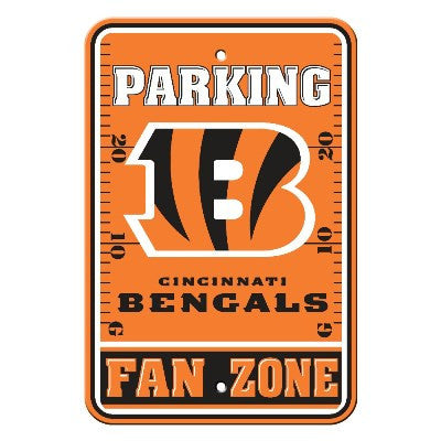 The Cincinnati Bengal Fan Zone Parking Only Sign in Bengals NFL Car accessories