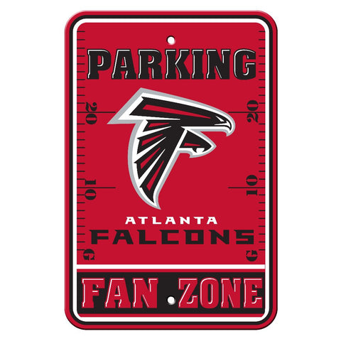The Atlanta Falcon Fan Zone Parking Only Sign in Falcons NFL Car accessories