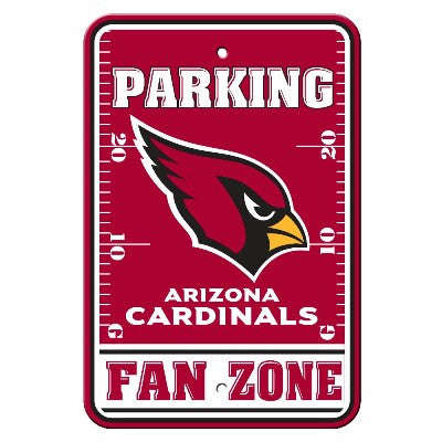 The Arizona Cardinal Fan Zone Parking Only Sign in Cardinals NFL Car accessories