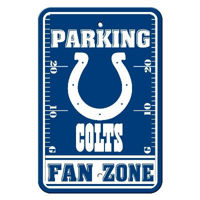 The Indianapolis Colt Fan Zone Parking Only Sign in Colts NFL Car accessories