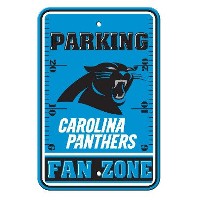 The Carolina Panther Fan Zone Parking Only Sign in Panthers NFL Car accessories