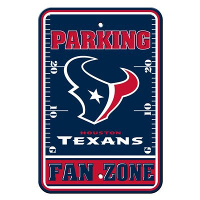 The Houston Texan Fan Zone Parking Only Sign in Texans NFL Car accessories