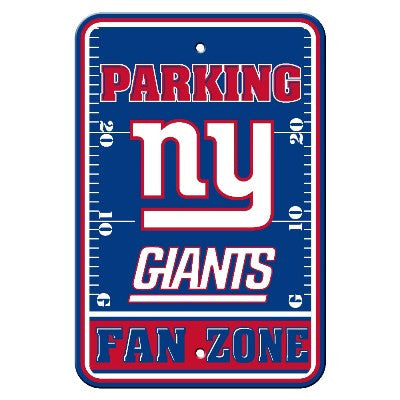 The New York Giant Fan Zone Parking Only Sign in Giants NFL Car accessories