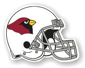 Cardinals Vinyl Helmet Magnet Arizona automotive fan gear