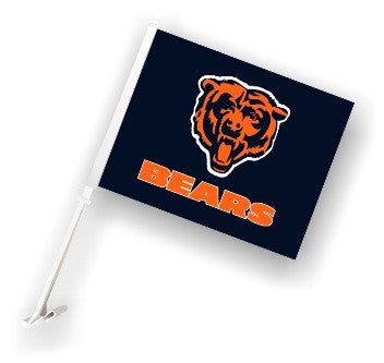 The Chicago Bear Logo Two Sided Flag shows Bears spirit