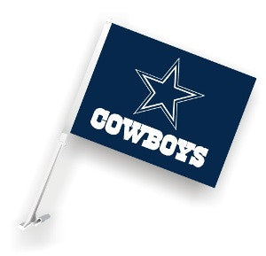 The Dallas Cowboy Logo Two Sided Flag shows Cowboys spirit