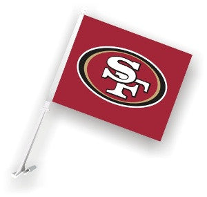 The San Francisco 49er Logo Two Sided Flag shows 49ers spirit