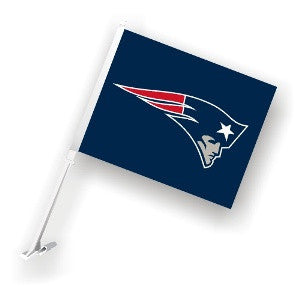 The New England Patriot Logo Two Sided Flag shows Patriots spirit