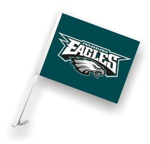 The Philadelphia Eagle Logo Two Sided Flag shows Eagles spirit