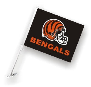 The Cincinnati Bengal Logo Two Sided Flag shows Bengals spirit