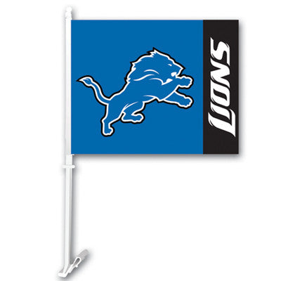 The Detroit Lion Logo Two Sided Flag shows Lions spirit