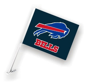 The Buffalo Bill Logo Two Sided Flag shows Bills spirit