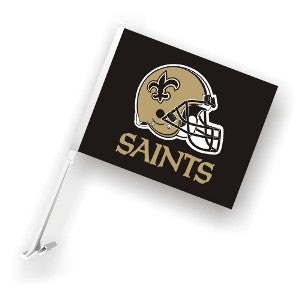 The New Orleans Saint Logo Two Sided Flag shows Saints spirit