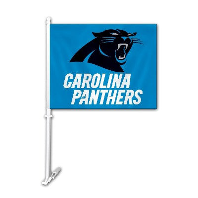 The Carolina Panther Logo Two Sided Flag shows Panthers spirit