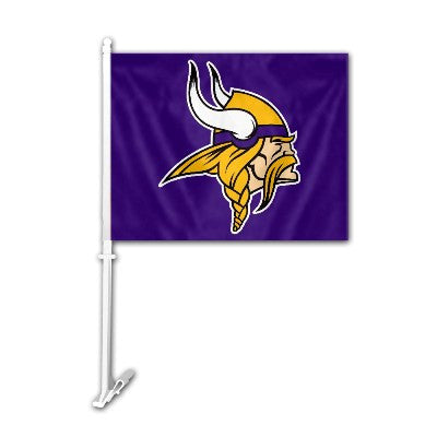 The Minnesota Viking Logo Two Sided Flag shows Vikings spirit