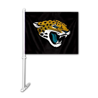 The Jacksonville Jaguar Logo Two Sided Flag shows Jaguars spirit