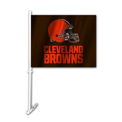 The Cleveland Brown Logo Two Sided Flag shows Browns spirit