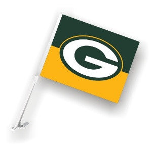 The Green Bay Packer Logo Two Sided Flag shows Packers spirit