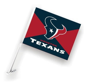 The Houston Texan Logo Two Sided Flag shows Texans spirit