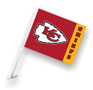 The Kansas City Chief Logo Two Sided Flag shows Chiefs spirit
