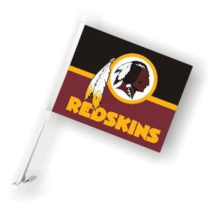 The Washington Redskin Logo Two Sided Flag shows Redskins spirit