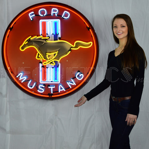 Neonetics Neonetics Ford Mustang Red 36 Inch Neon Sign In Metal Can- 9MUSTB