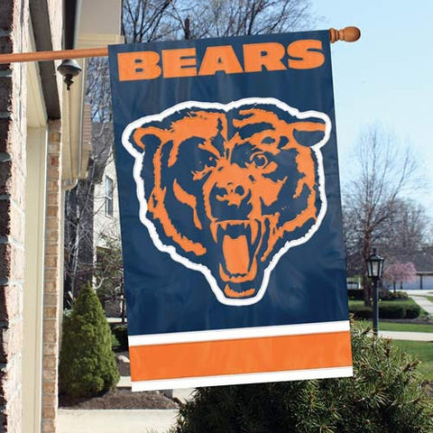 Chicago Bears  Applique Banner Flag Party Animal Afch