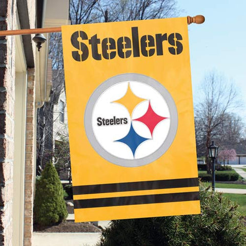Pittsburgh Steelers  Applique Banner Flag Party Animal Afstg