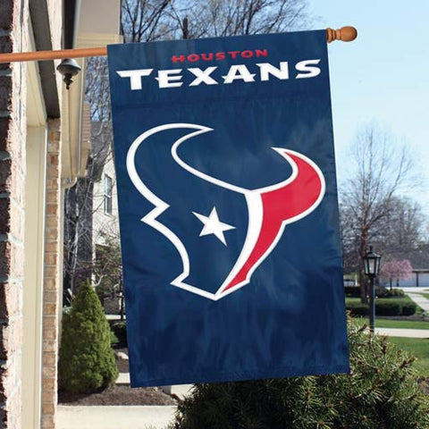 Houston Texans  Applique Banner Flag Party Animal Aftx