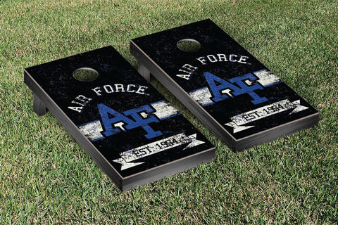 Air Force Academy Falcons Cornhole Boards and bags, Banner Vintage Version - Victory Tailgate 32936