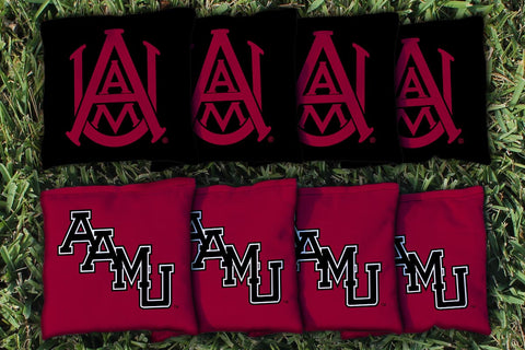 Alabama A&M University Bulldogs Corn Hole Bag Logo Set - corn filled