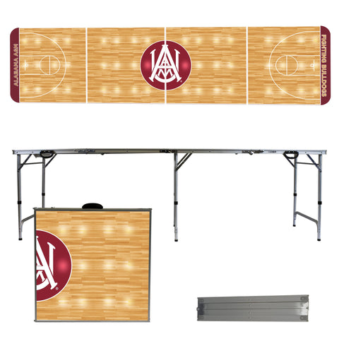 The AAMU Bulldogs Basketball Court Version Portable Tailgating and Cup Game Table