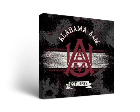 Alabama A&M Bulldogs Man Cave wall art - Banner Design