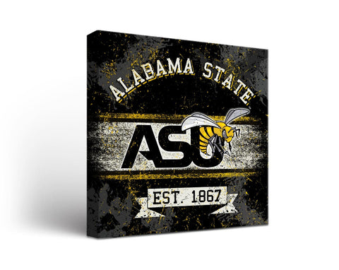 Alabama State Hornets  Man Cave wall art - Banner Design