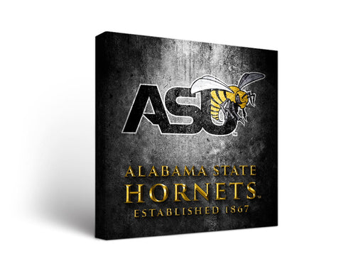 Alabama State Hornets  Man Cave wall art - Metal Design