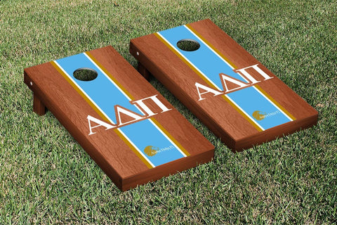 Alpha Delta Pi Rosewood Stained Cornhole Set Victory Tailgate 31258